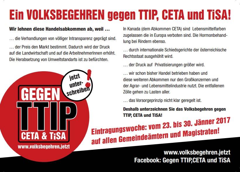 Gegen TTIP CETA TiSA