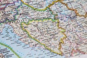 Karte von Bosnien und Herzegowina