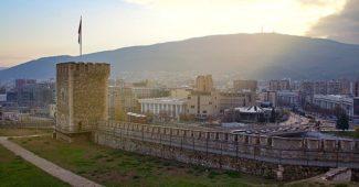 Blick auf Skopje