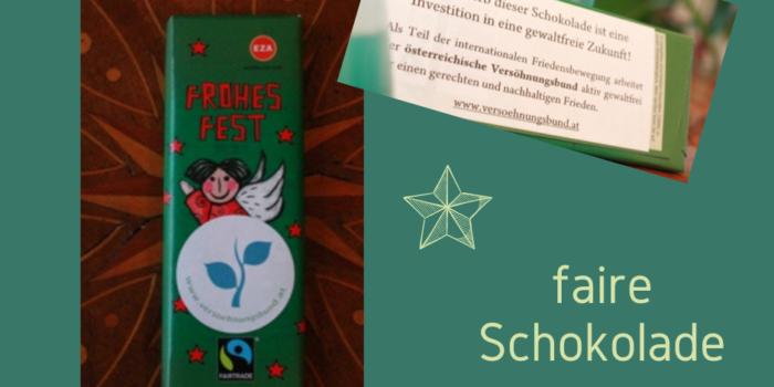 Solidaritätsschokolade zu Weihnachten schenken