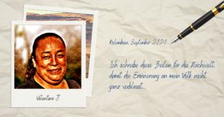 Steckbrief und Tagebuch Valentina