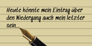 Erster Satz aus dem Tagebucheintrag